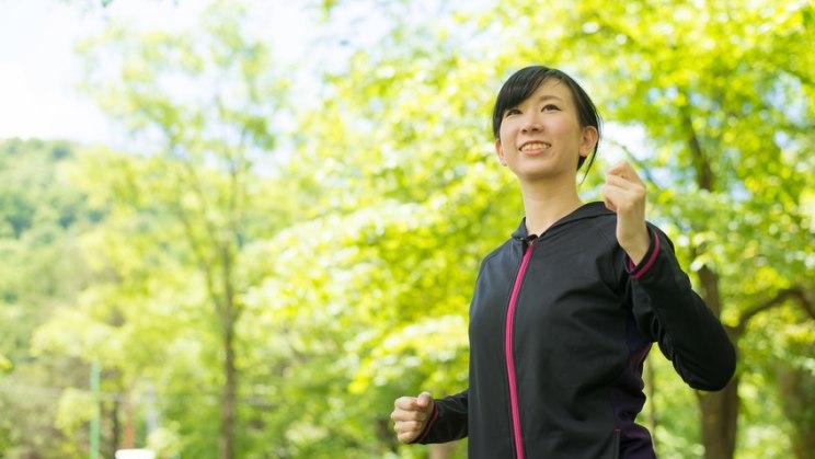 Aufrechte Körperhaltung beim Walking