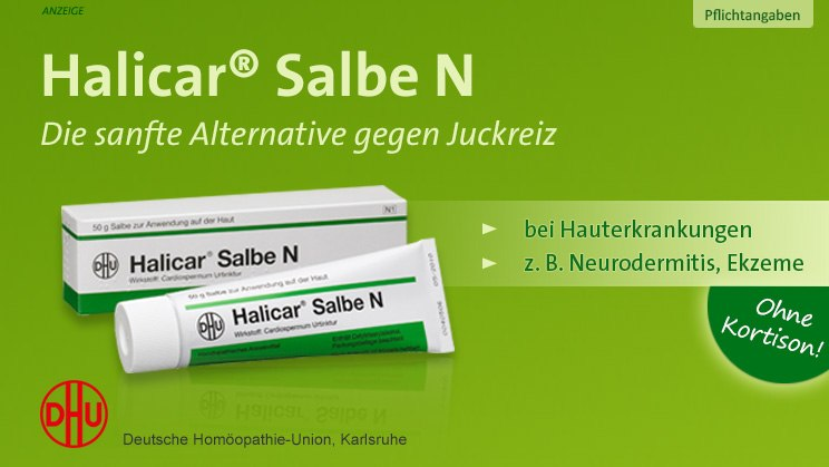 Halicar - die sanfte Alternative zu Kortison