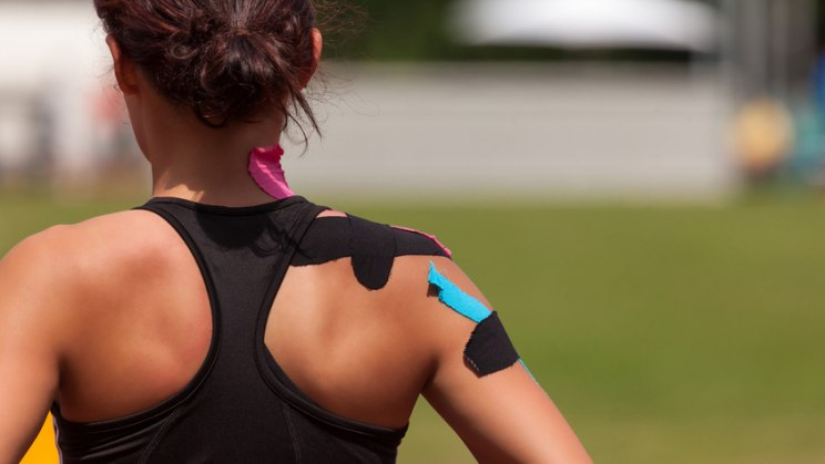 Kinesio-Tapes sollen Verspannungen lockern