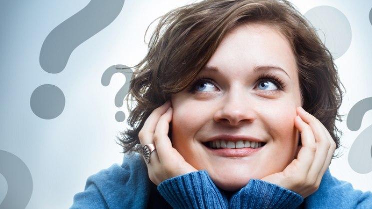 Nachdenkliche Frau: Wissens-Quiz zu Gesundheit - rätseln Sie mit!