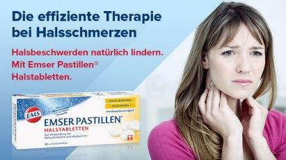 Emser Pastillen Halstabletten – die effiziente Therapie bei Halsschmerzen.