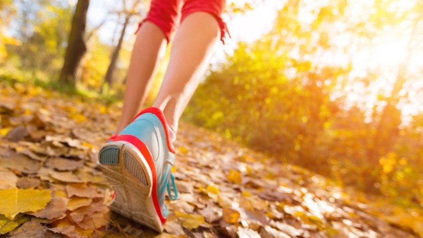 Frau joggt im Wald: Bewegung ist ein wahres Wundermittel gegen Schmerzen